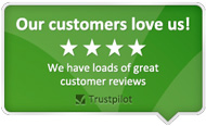 Our customers love us! We have loads fo great customer reviews - all pages