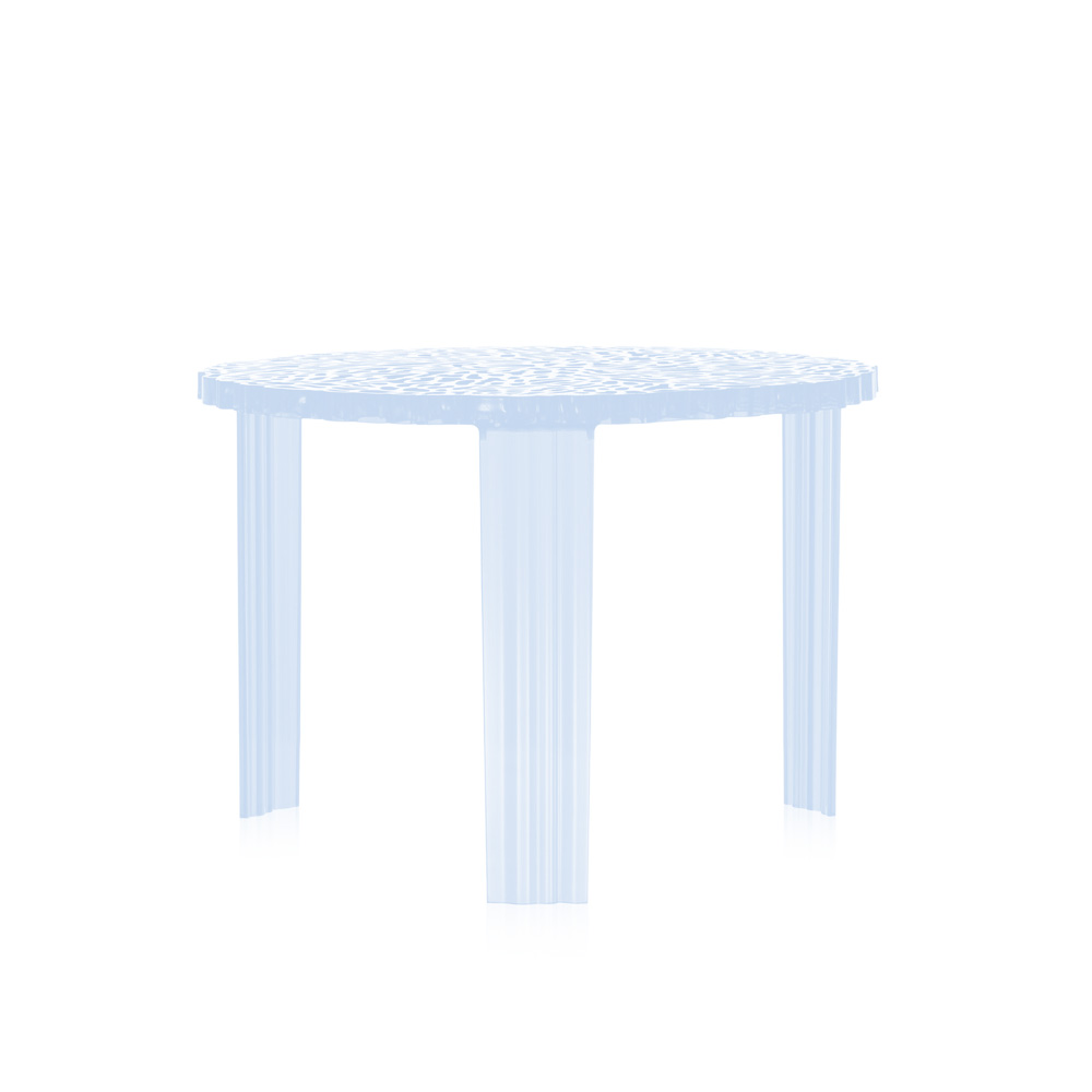 Kartell T-Table medium coffee table (h:360 mm) - /AZ/light blue ...