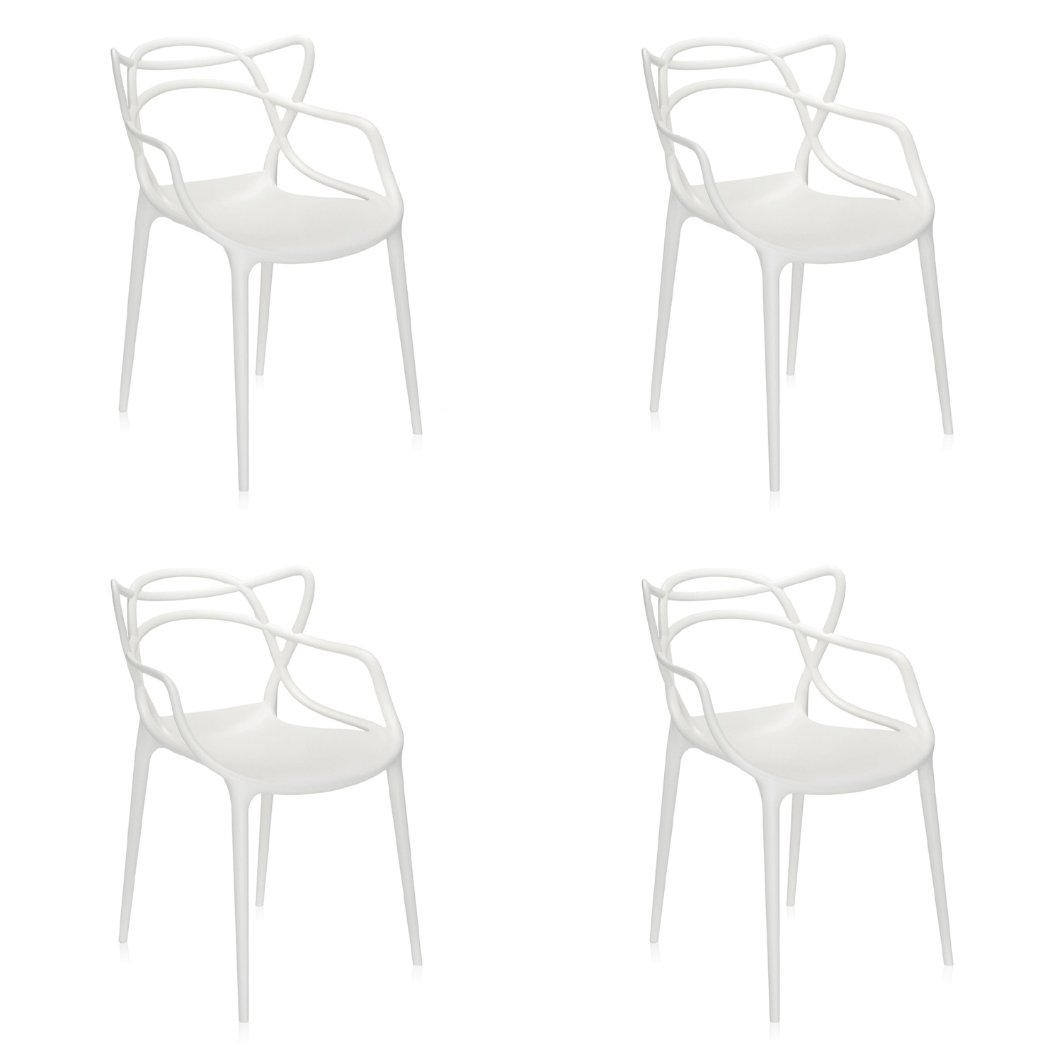 Kartell Masters Chairs set of 4 By Philippe Starck & Eugeni