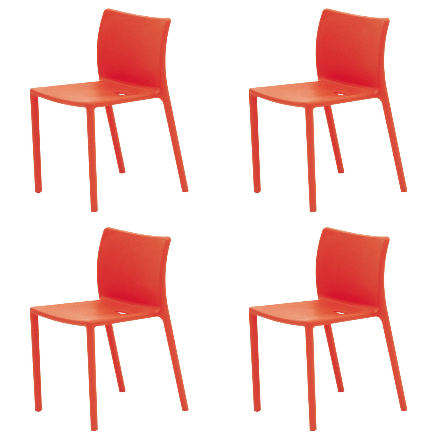 magis air chair set of 4 an outdoor stacking chair by jasper