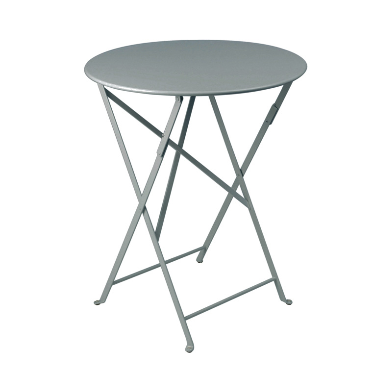 Fermob Bistro Folding Table Round Top, Small Round Folding Cafe Table