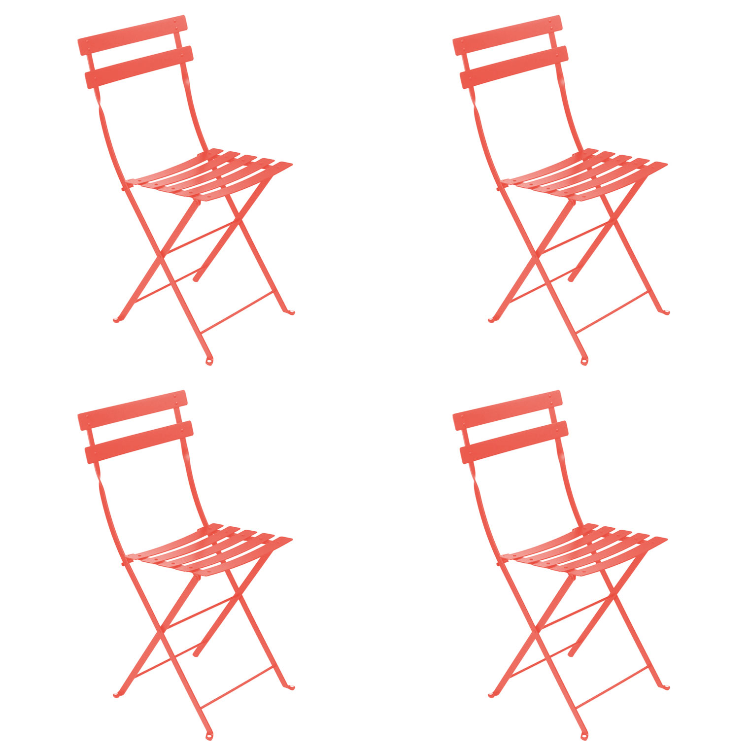 Fermob Bistro Chairs Set of 4 in 26 Vibrant Colours FREE Shipping