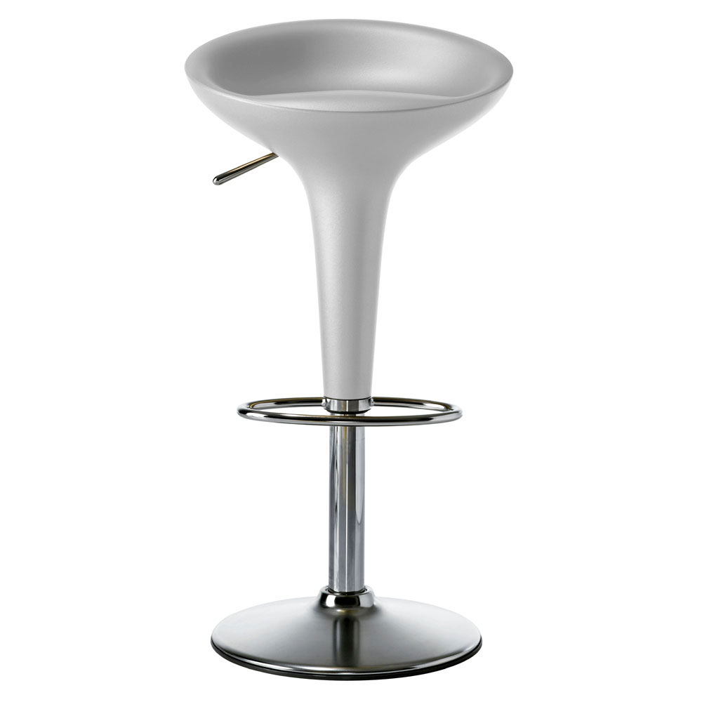 3 Available Silver Magis Bombo Fixed Height Swivel Bar Stool