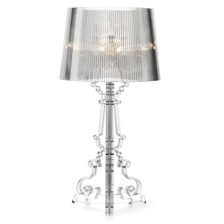 Attractive ... Kartell Bourgie Table Lamp Clear Black ...