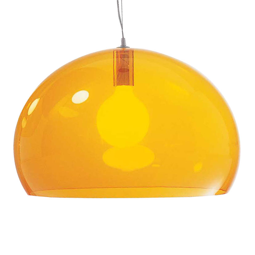 Kartell FL/Y Lamp Medium Transparent/Glossy Opaque (52cm dia)