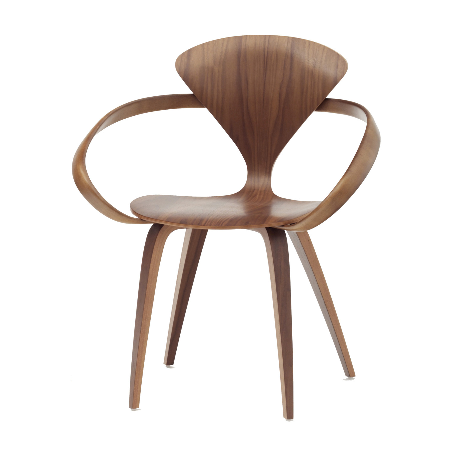 Cherner Dining Armchair Plywood By Norman Cherner