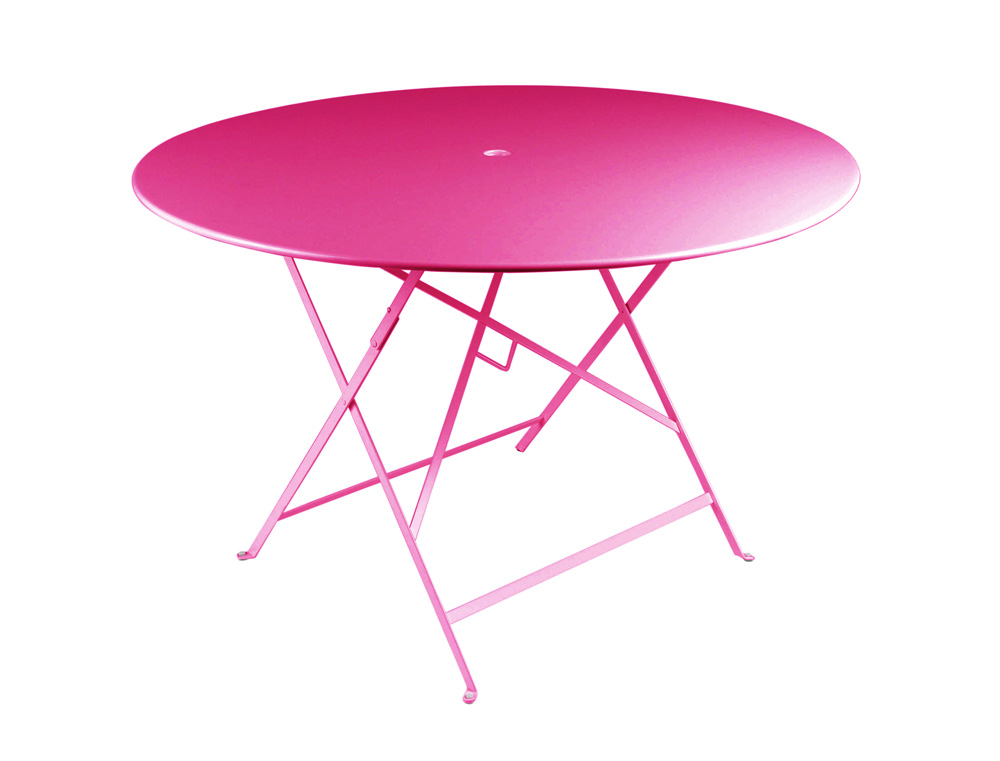 Fermob Bistro Folding Table Round Top (117cm)   Parasol Hole 5 2 ...