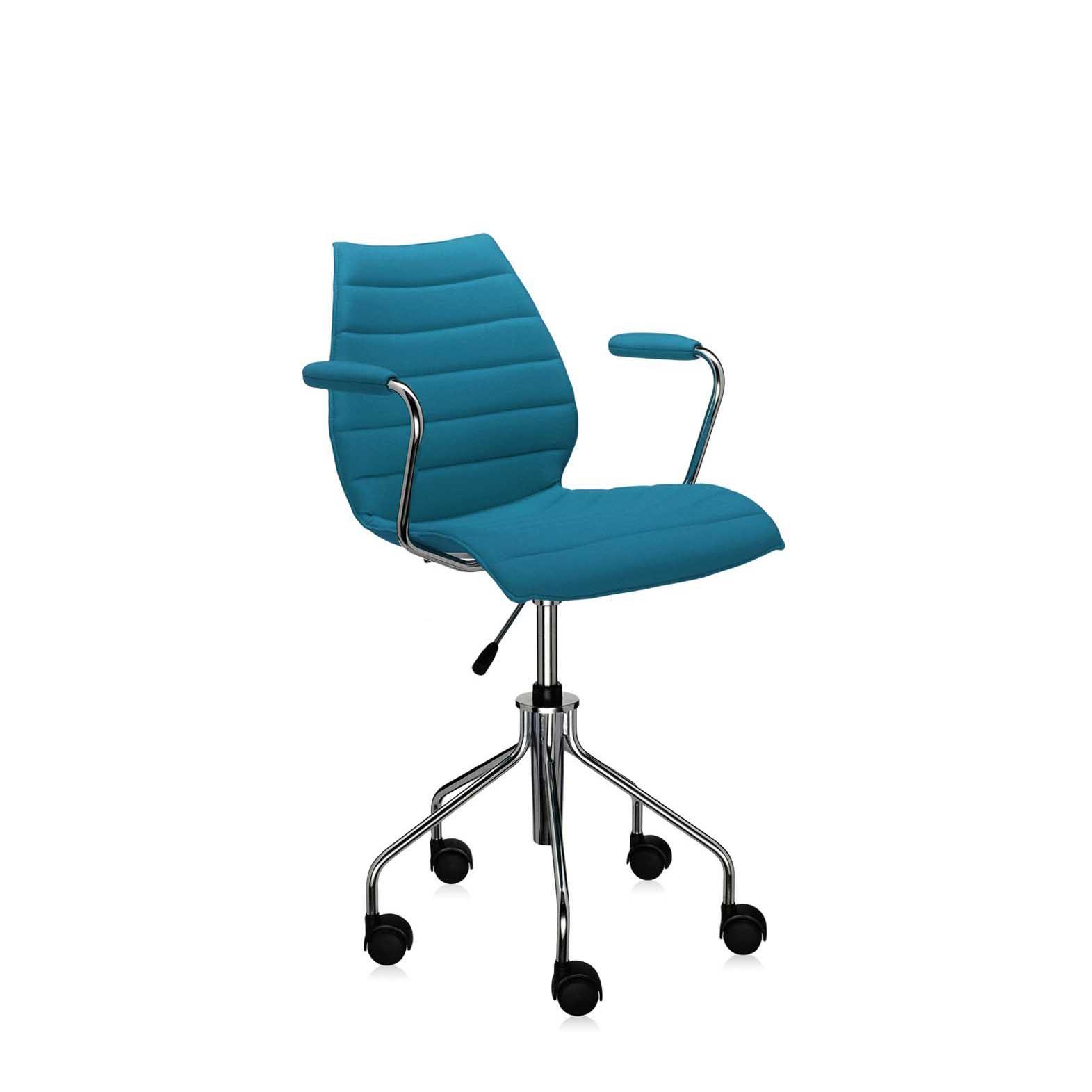 ... Kartell Maui Soft Upholstered Mobile Task Armchair ...