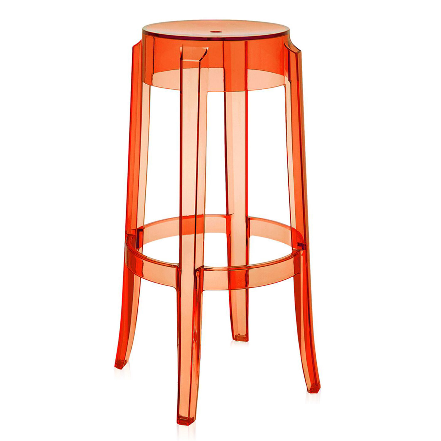 Charles Ghost High Bar Stool by Philippe Starck 7 Colours