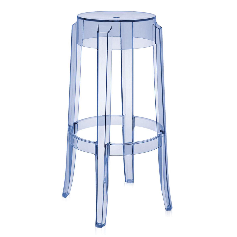 kartell charles ghost bar stool poseur height -  kartell charles ghost high bar stool
