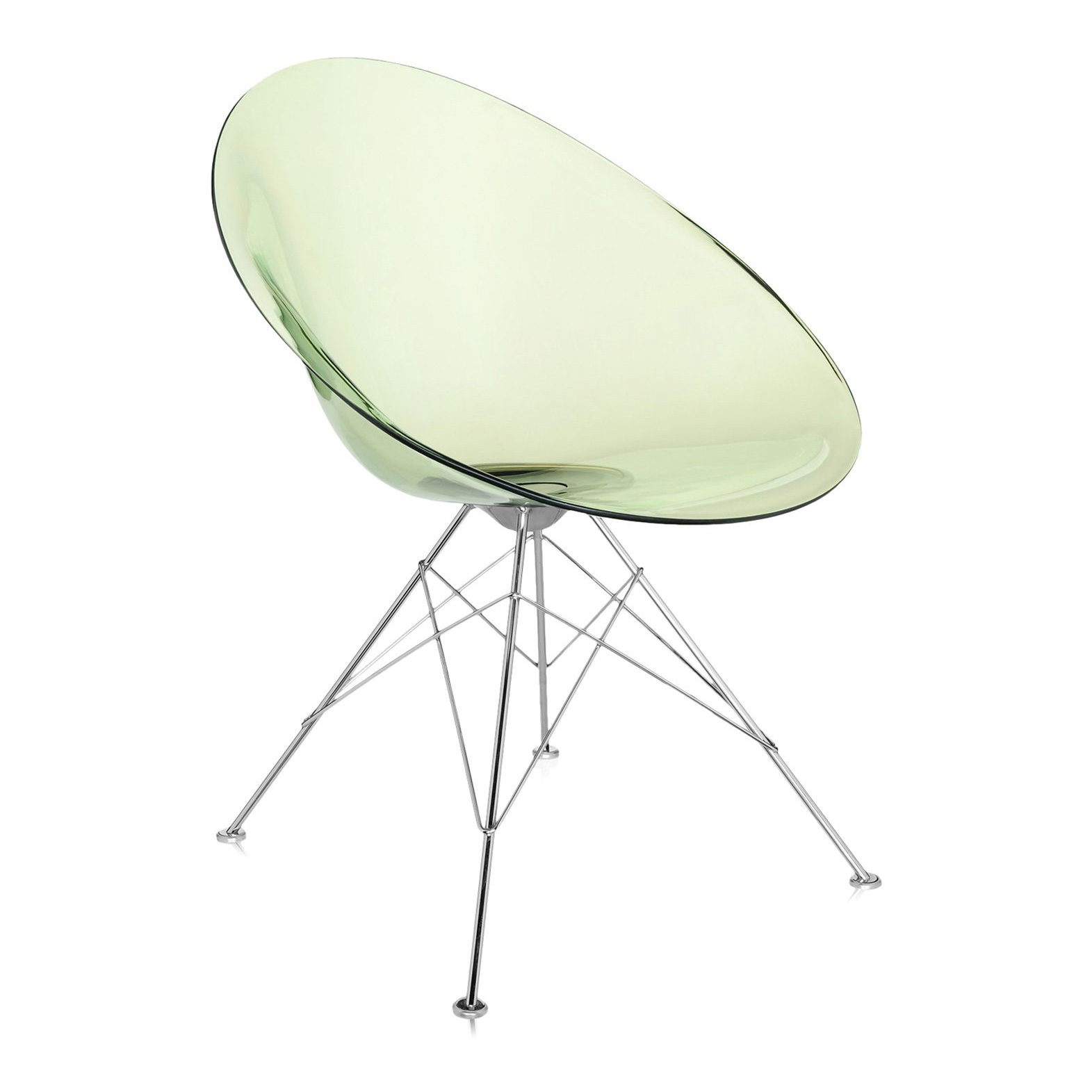 kartell eros chair on glides designed by philippe starck -  kartell eros tub chair on glides
