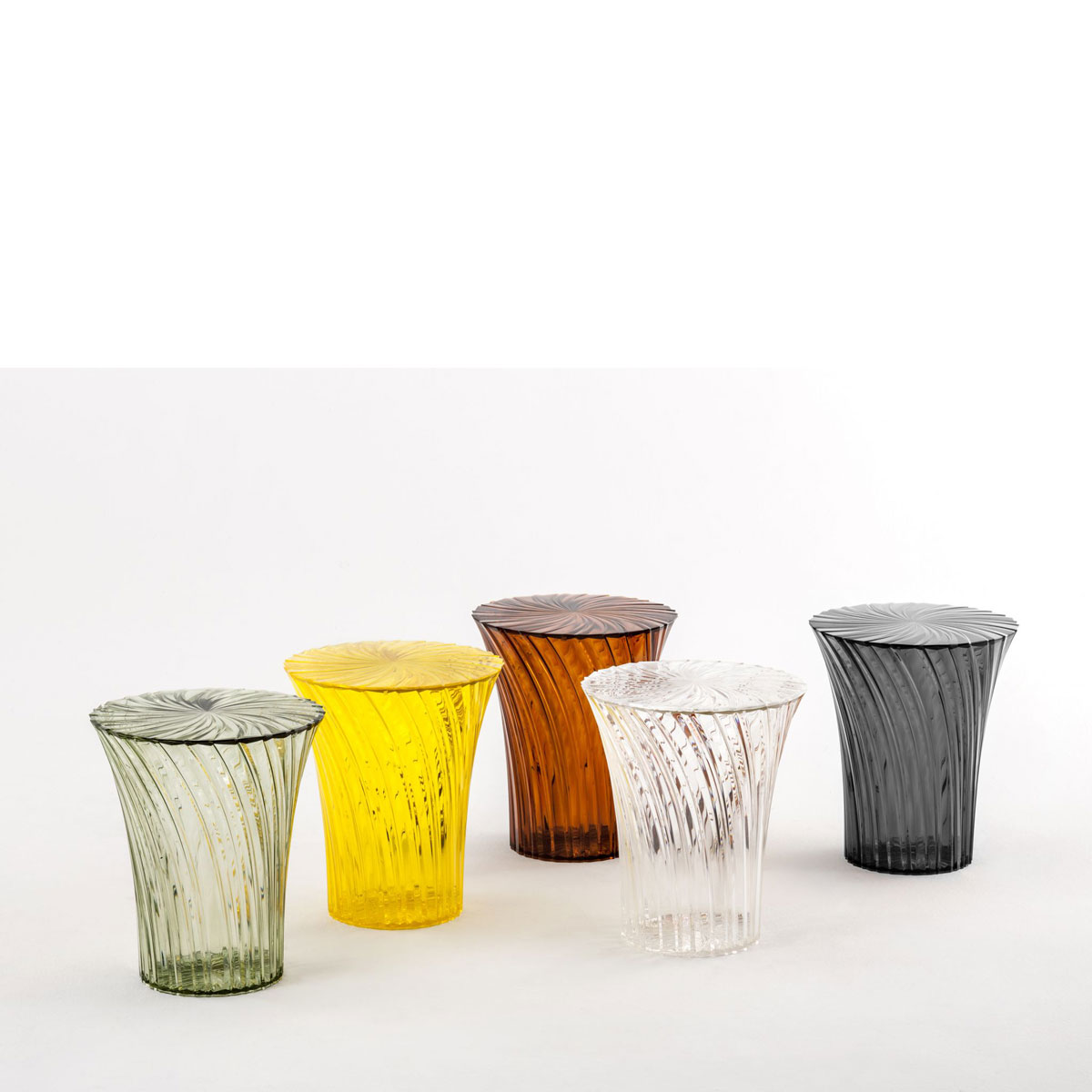 kartell sparkle stool table designed by tokyjin yoshioka -  kartell sparkle stool table