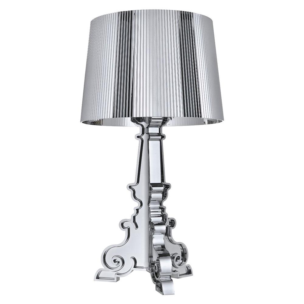 kartell lamps - kartell bourgie lamp silver chromed kartell light