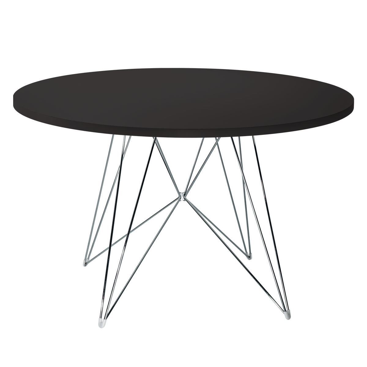 black and chrome furniture. Magis Tavolo XZ3 Round Table - Chrome, White, Black, Copper, Black And Chrome Furniture