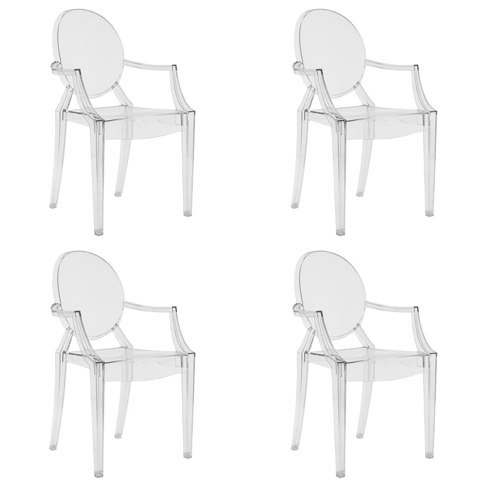 Kartell Louis Ghost Armchair (set of 4) - By Philippe Starck