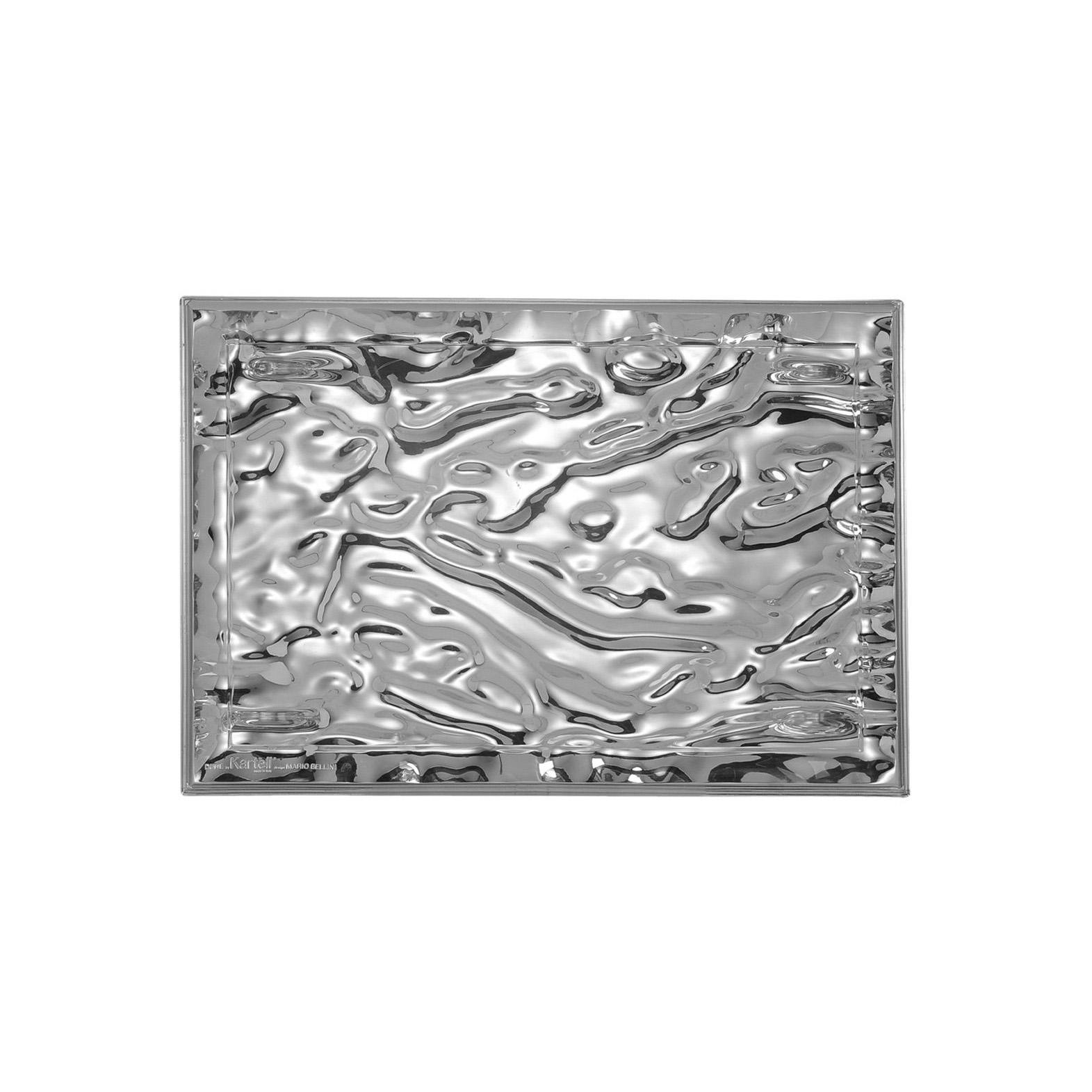 buy kartell dune tray metal chrome online  connections at home - kartell dune tray metallic chrome