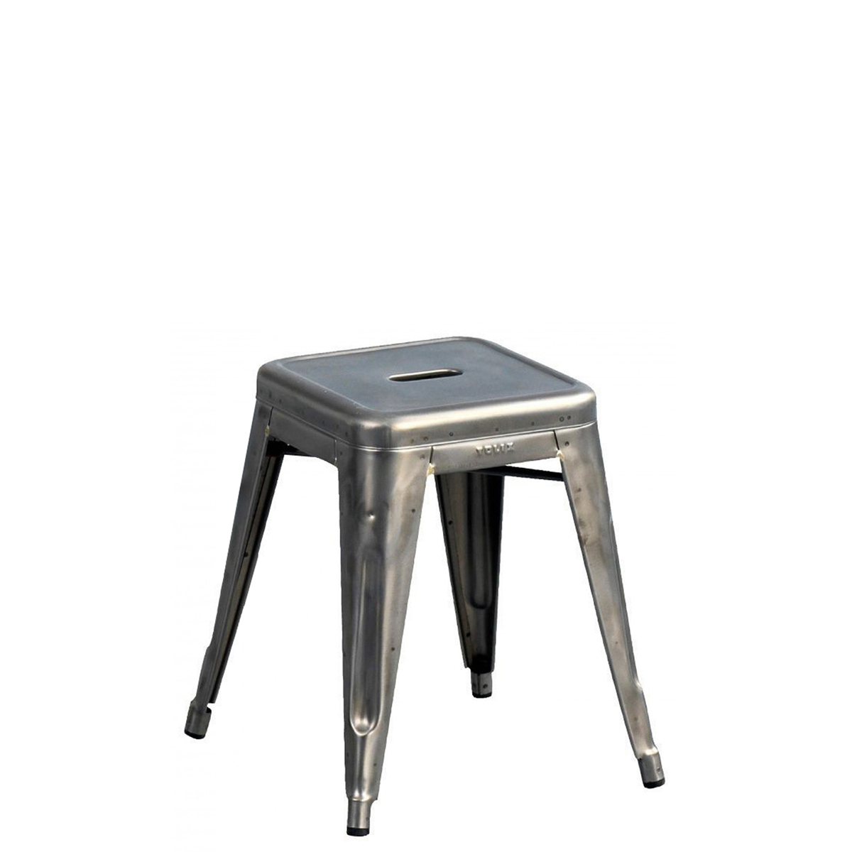 Delicieux Tolix H 45 Low Stool Raw Steel ...