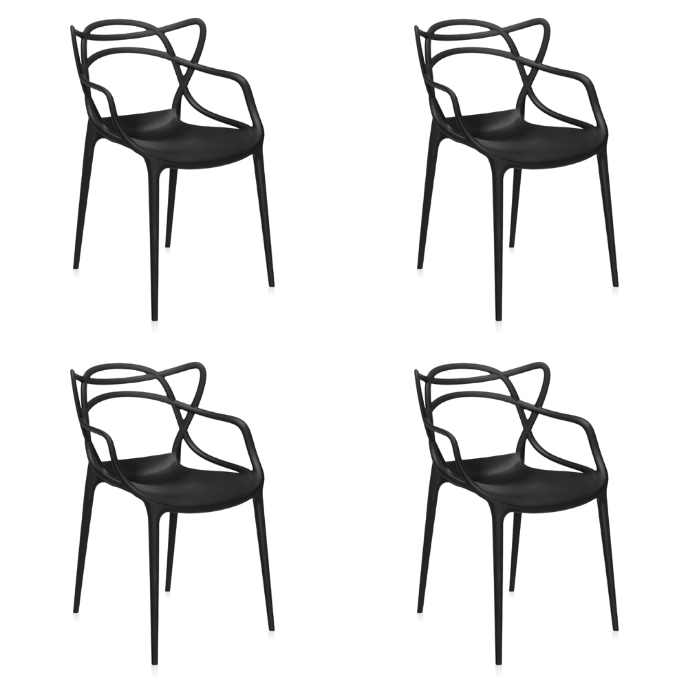 kartell masters chairs set of 4 by philippe starck eugeni quittlet