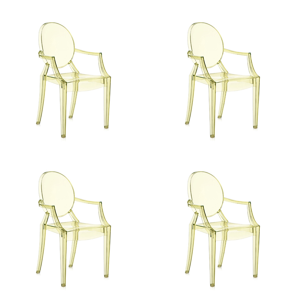 Kartell Lou Lou Ghost Chair, Set of 4