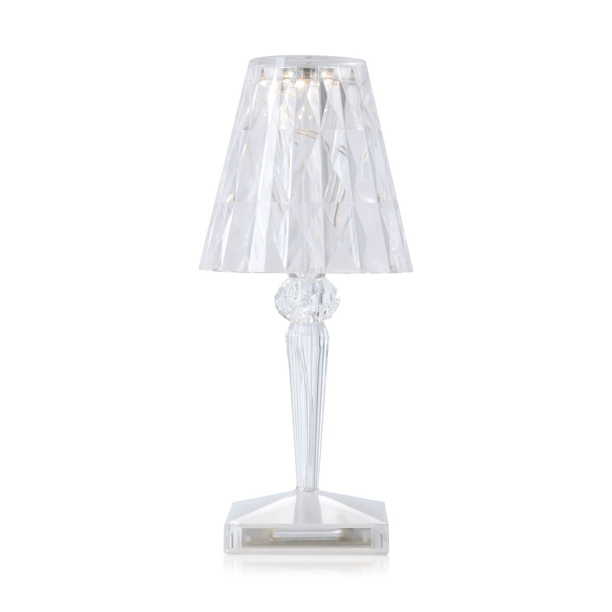 Kartell battery table lamp 100 rechargeable transparent light mozeypictures Gallery