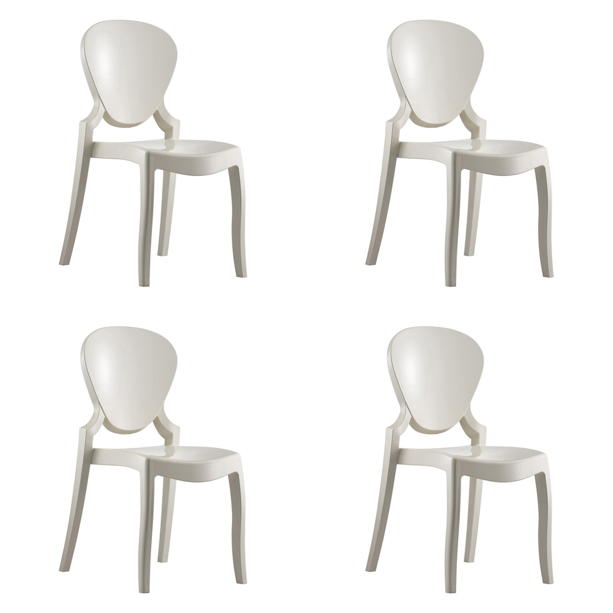 Pedrali Queen 650 Chair (set Of 4)   A Contemporary Stacking Chair
