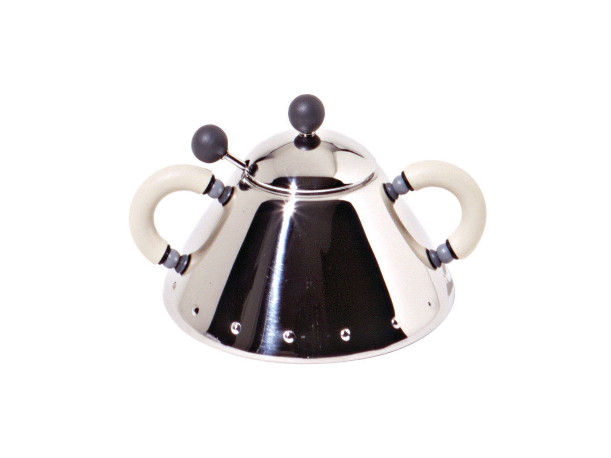 alessi michael graves sugar bowl with spoon -