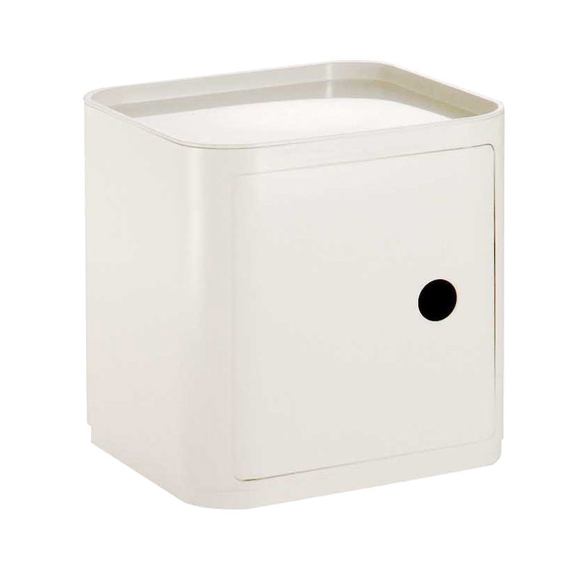 High Quality Kartell Componibili Square Storage Units   Gloss Finished Ivory White