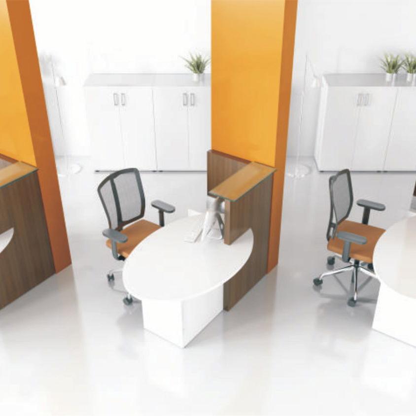 Ovo Small Reception Desk