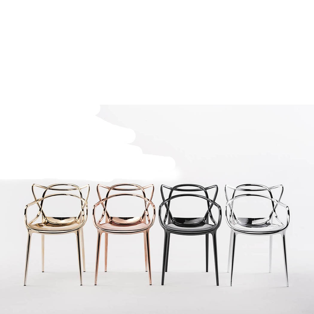 Kartell Masters Chair   Special Metallic Versions (Gold, Copper, Chrome,  Titanium)