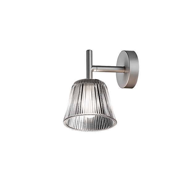Flos Romeo Babe Soft W wall light in clear glass