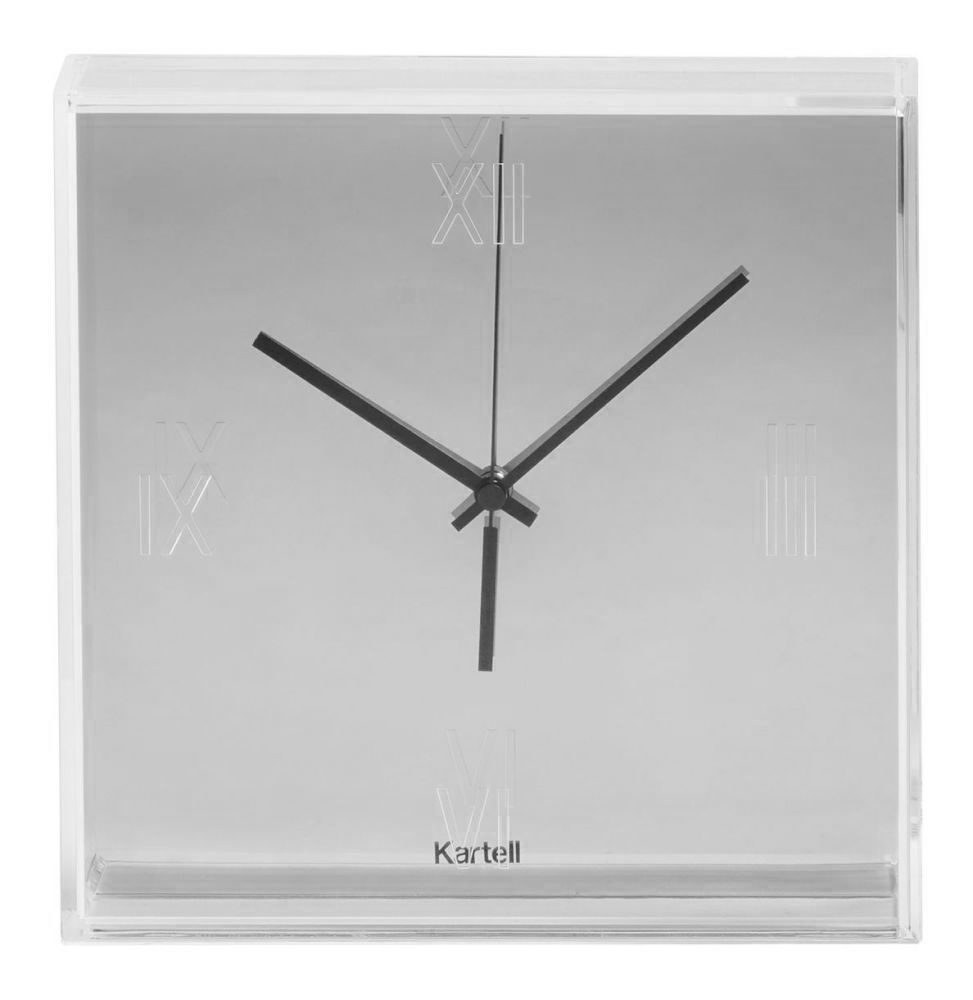 kartell tictac clock  metallic finish -  kartell tictac clock  metallic