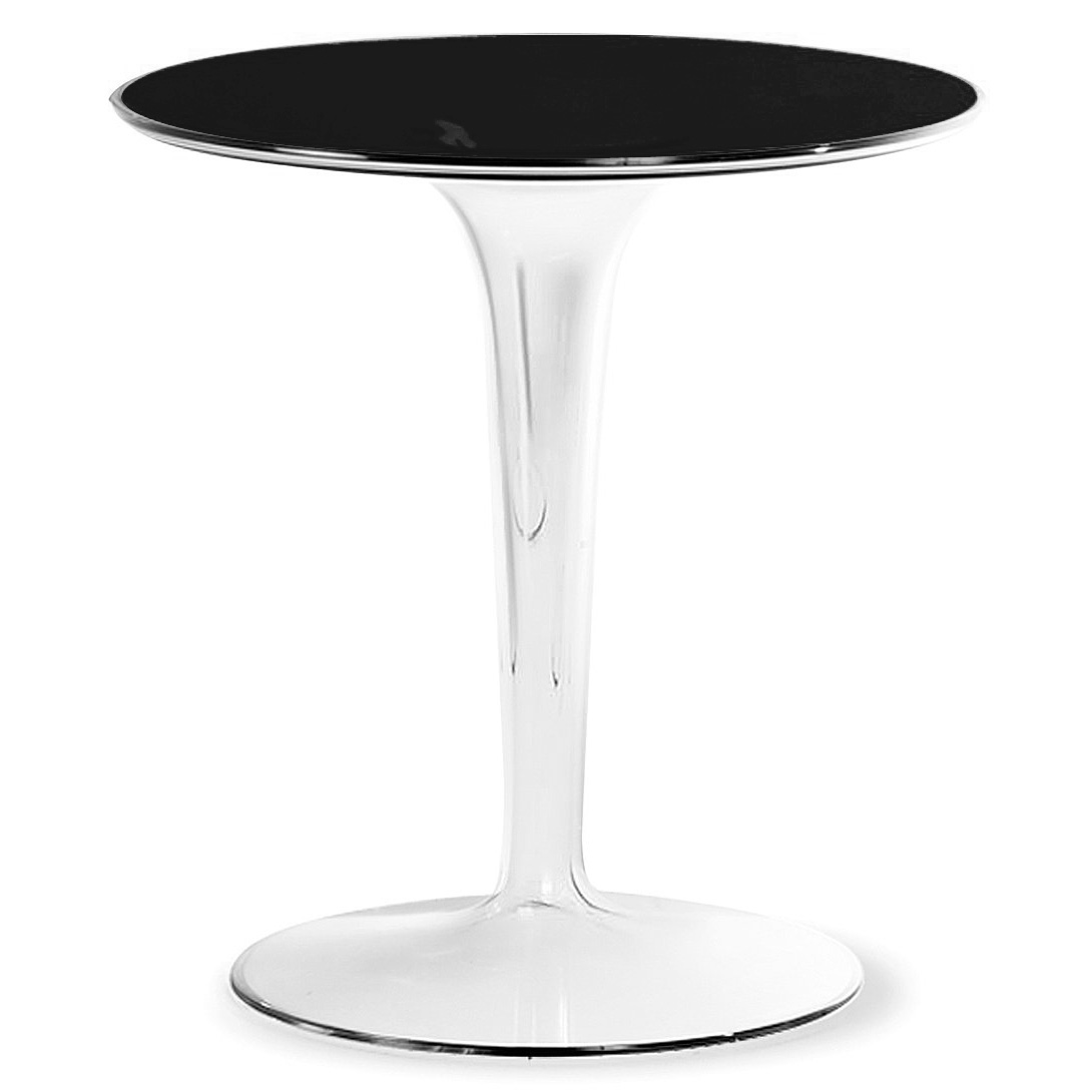 Kartell Tiptop Glass Top Side Table Philippe Starck Free Shipping