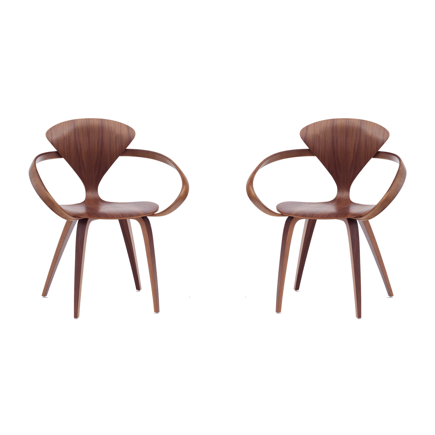 Set of 2 Cherner armchairs An Original Norman Cherner chair