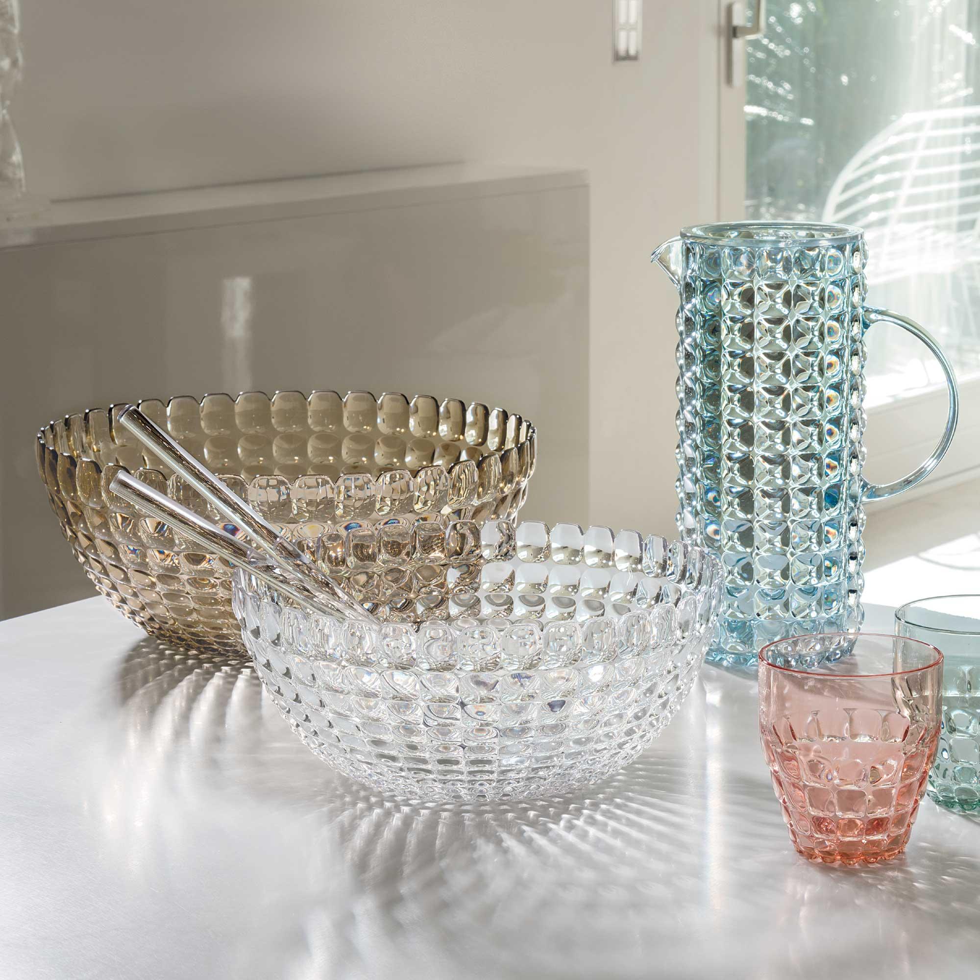 guzzini tiffany  Guzzini Tiffany L Bowl - Transparent Plastic w/ Sparkling Colour Effects