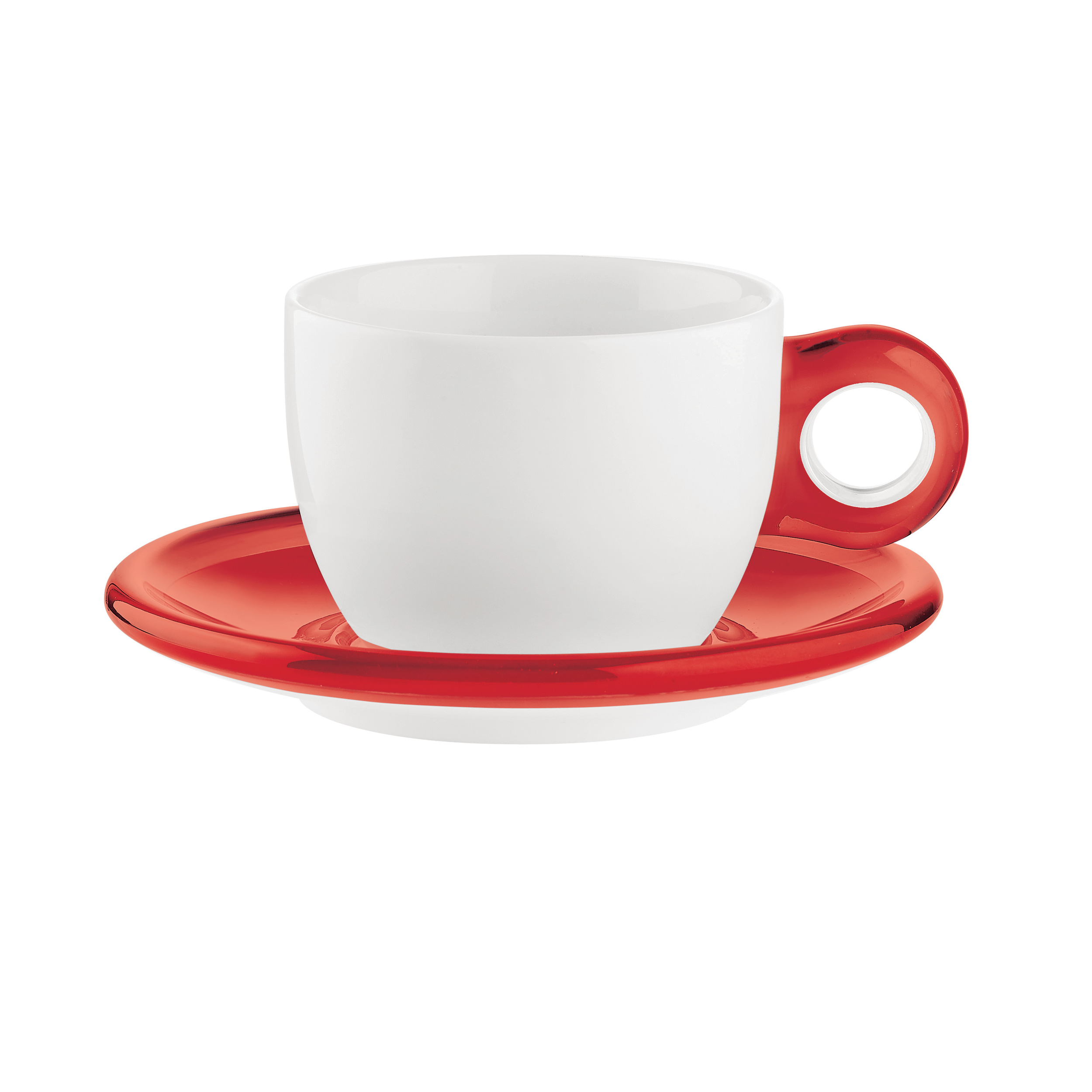 guzzini gocce cappuccino cups (set of )  dishwasher  microwave safe -