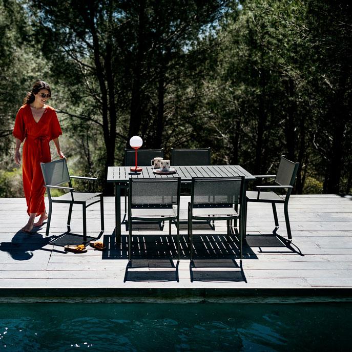 Fermob Costa Rectangular Table (160 x 80cm) - Garden Table for 6