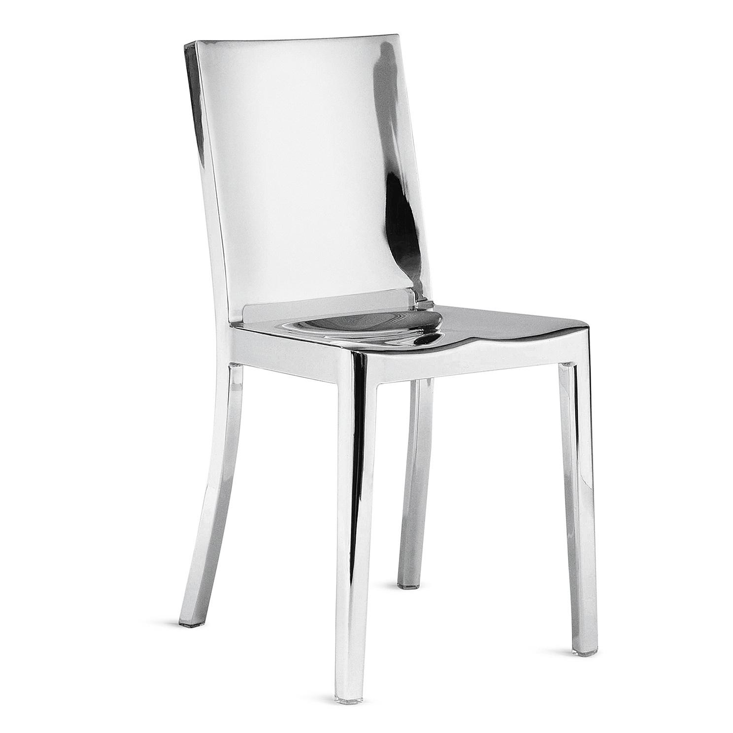 emeco hudson chair  aluminium polished  designed by philippe starck -