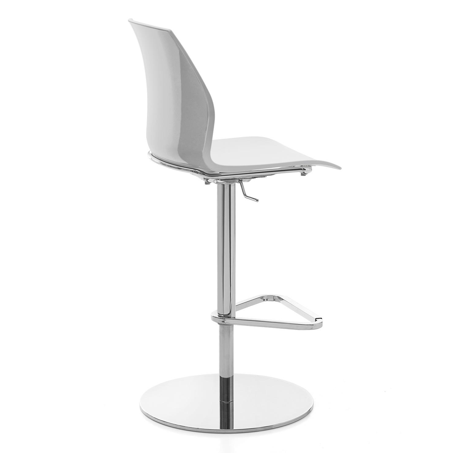 Sensational Kastel Kalea Height Adjustable Bar Stool Flat Base 58 80 Cm Evergreenethics Interior Chair Design Evergreenethicsorg