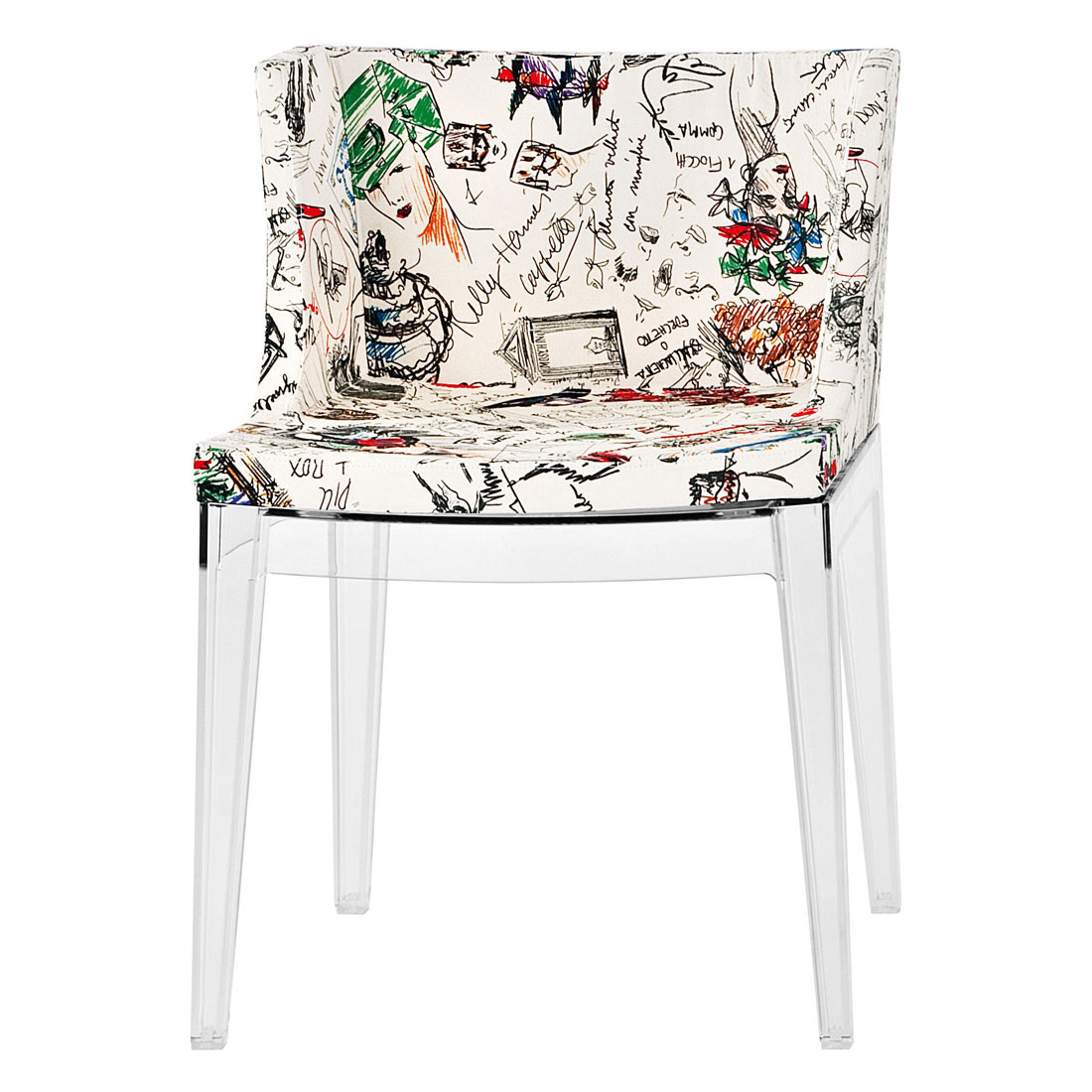 buy online kartell mademoiselle moschino sketches chair
