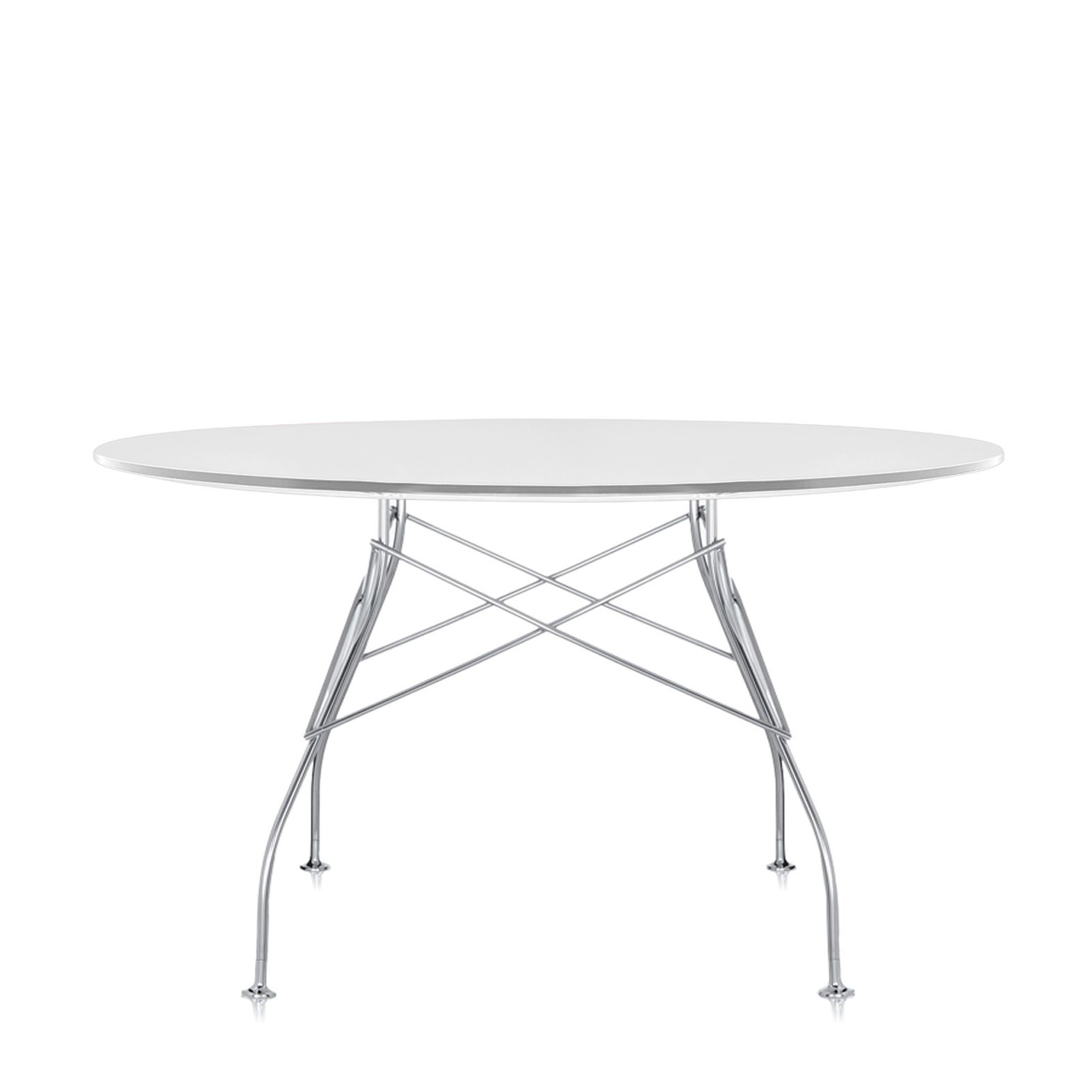 Kartell Glossy Round Table Versatile Table for the Home Office