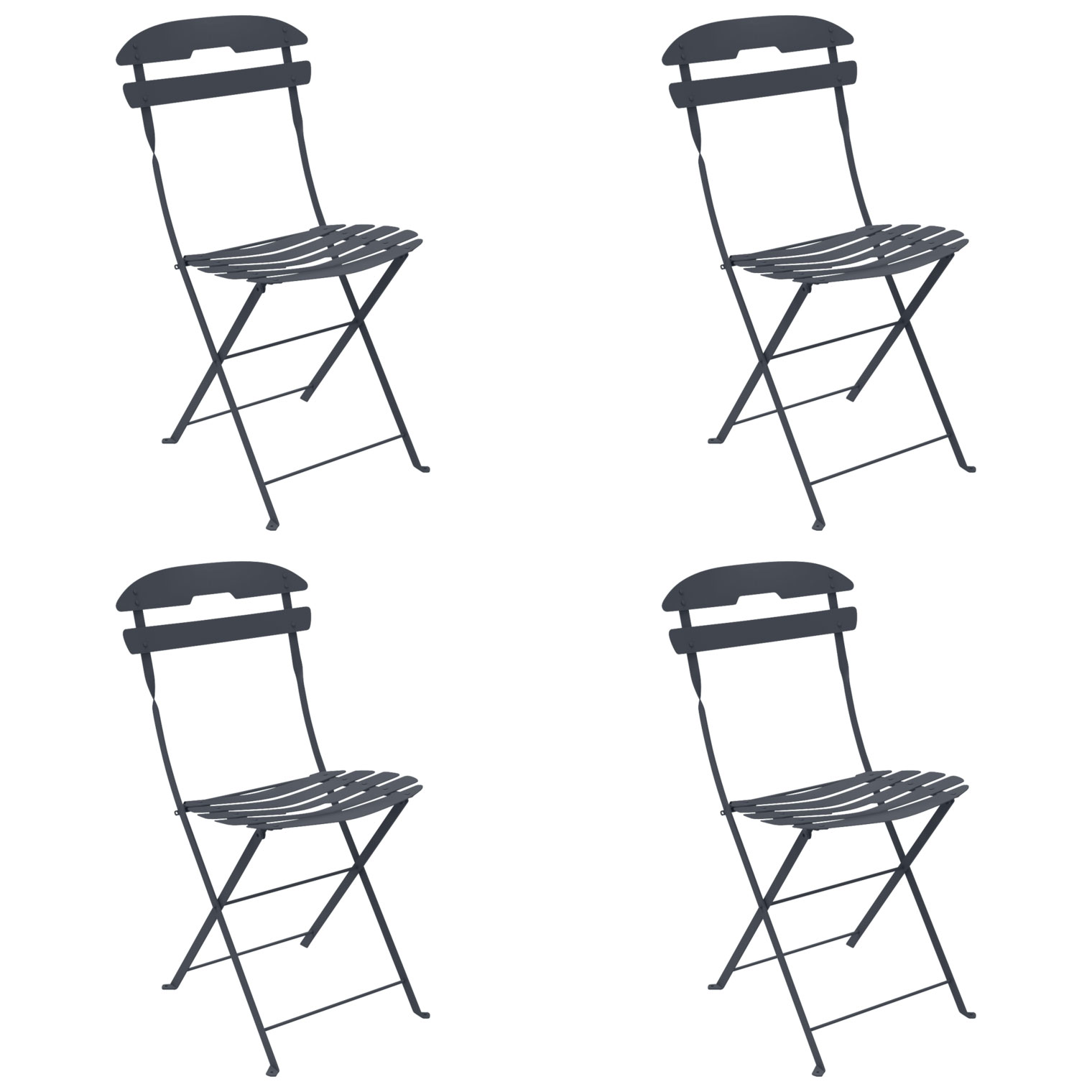 La Mome Folding Chair Set of 4 24 colours