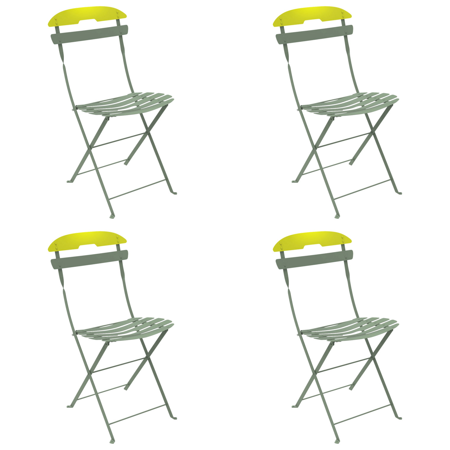 La Mome Two Tone Chair Set of 4 FREE Shipping