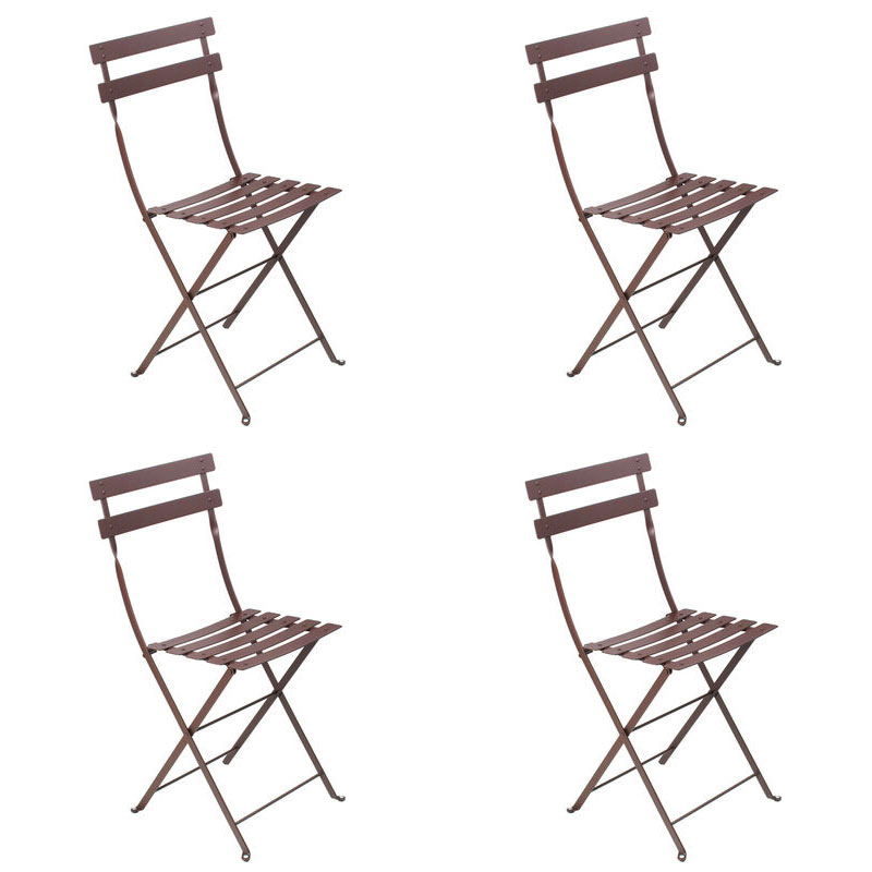 ... Fermob Bistro Metal Chairs (Set Of 4) Vibrant Colours   FREE Shipping  ...