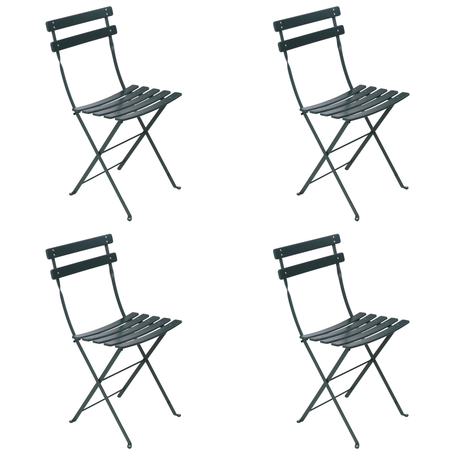 Bistro Classic Folding Chairs Set of 4 FREE Shipping