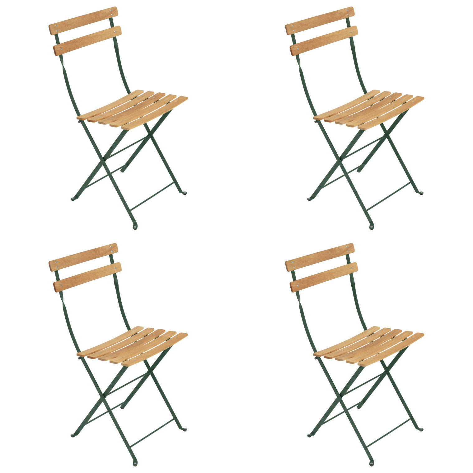 Bistro Folding Chair NATUREL Set of 4 FREE Shipping