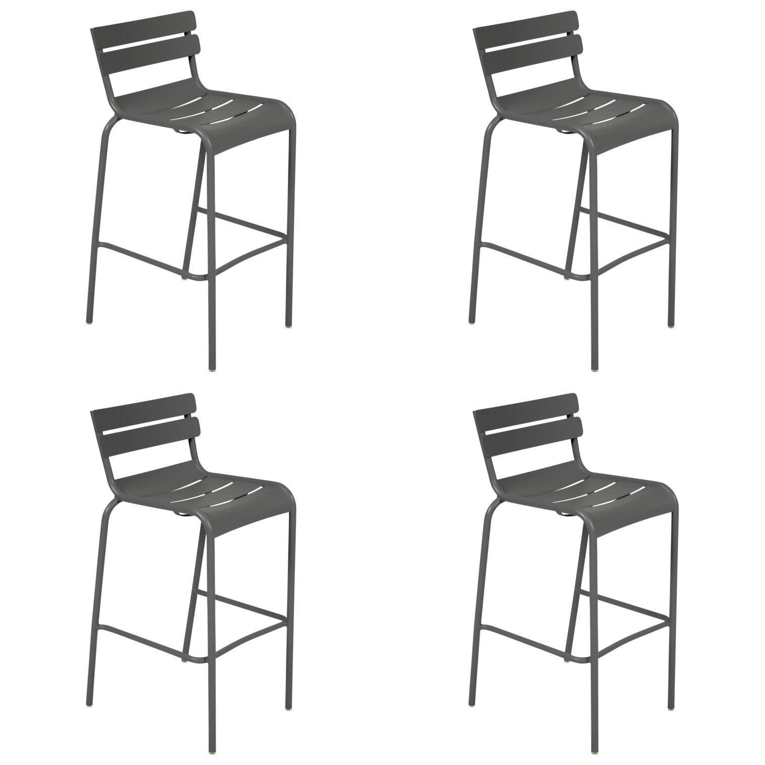 Fermob luxembourg high bar stools set of 4 free shipping