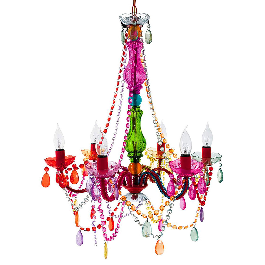 Present time gypsy multicoloured chandelier lamp aloadofball Choice Image