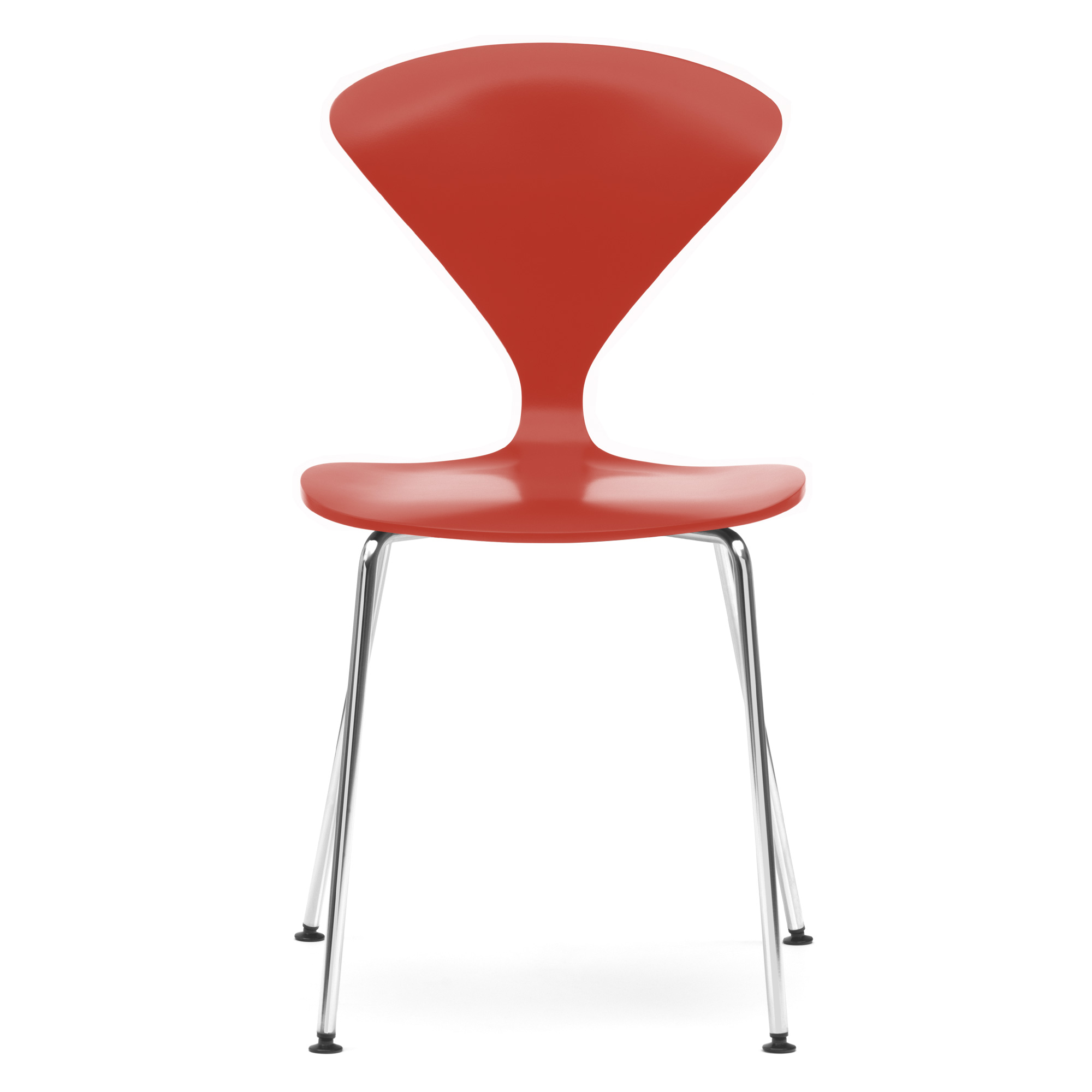 ... Cherner Chair Wood Stacking Chrome Legs ...