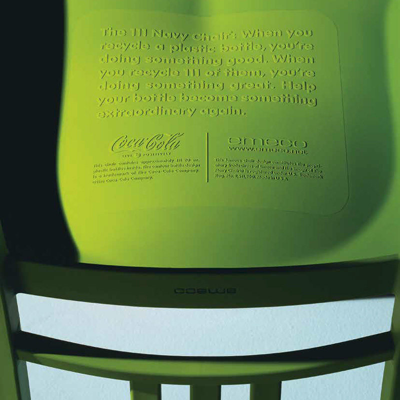 emeco 111 navy side chair coca cola collaboration. emeco 111 navy chair (coca-cola) - made from recycled plastic bottles side coca cola collaboration