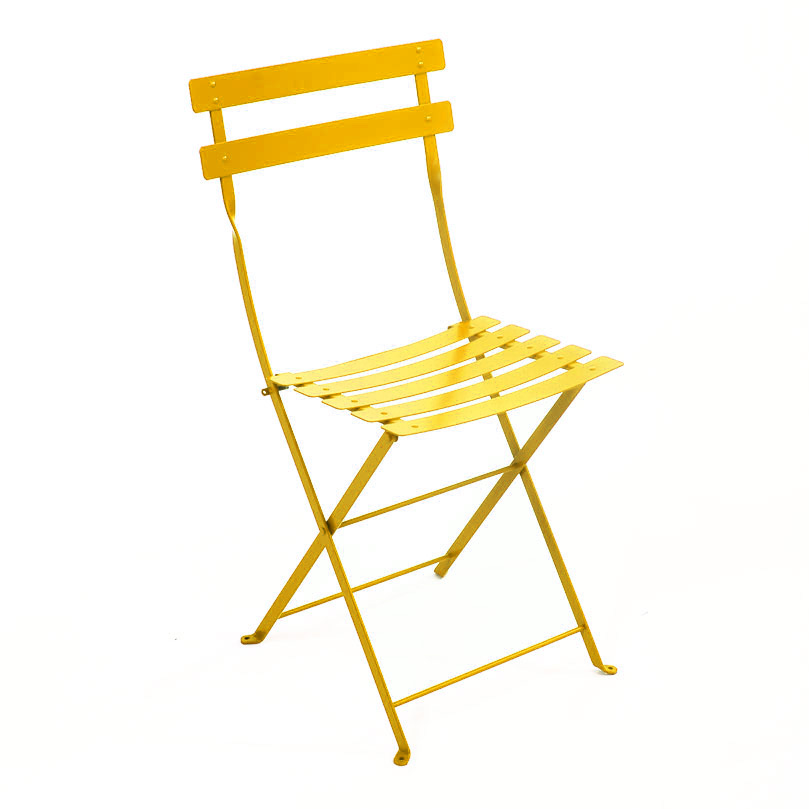 fermob folding metal bistro chair 28 vibrant lacquered colours - Garden Furniture Colours